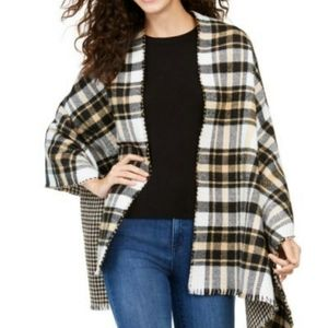 Charter Club Reversible Houndstooth to Plaid Wrap